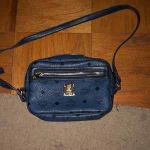 blue mcm crossbody bag